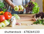 woman cook at the kitchen  soft ...   Shutterstock . vector #678264133