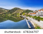 pinhao town with douro river... | Shutterstock . vector #678266707