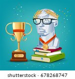 success in learning. role model ... | Shutterstock .eps vector #678268747
