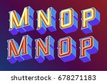 3d vintage letters with... | Shutterstock .eps vector #678271183