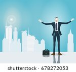successful businessman with... | Shutterstock .eps vector #678272053