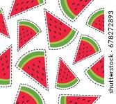fresh fruits  hand drawn...   Shutterstock .eps vector #678272893