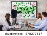 businessman showing passive... | Shutterstock . vector #678273517