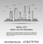 line art vector illustration of ... | Shutterstock .eps vector #678279793