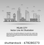 line art vector illustration of ... | Shutterstock .eps vector #678280273