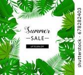 summer sale banner. tropical...   Shutterstock .eps vector #678282403