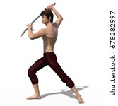 3d render of a young strong... | Shutterstock . vector #678282997