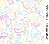 seamless background  pattern ... | Shutterstock .eps vector #678284827