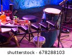 Small photo of Red tambourine And other musical instruments