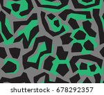 leopard pattern  vector ... | Shutterstock .eps vector #678292357