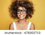 young beautiful african... | Shutterstock . vector #678302713