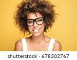 young beautiful african... | Shutterstock . vector #678302767