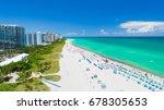 aerial view of miami beach ... | Shutterstock . vector #678305653