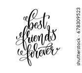 best friends forever black and... | Shutterstock . vector #678309523