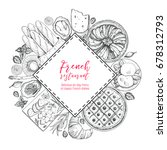 french cuisine label. a set of... | Shutterstock .eps vector #678312793
