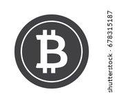 black bitcoin icon for...   Shutterstock .eps vector #678315187