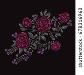 elegant bouquet with rose... | Shutterstock .eps vector #678316963