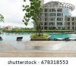 swimming pool under maintenance ... | Shutterstock . vector #678318553