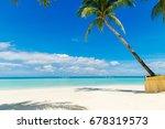 dream scene. beautiful palm... | Shutterstock . vector #678319573