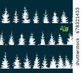 set christmas trees seamless... | Shutterstock .eps vector #678321433