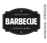 barbecue vintage sign bbq retro ... | Shutterstock .eps vector #678322153