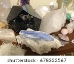 collection of crystals | Shutterstock . vector #678322567
