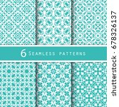 a pack of vintage pattern... | Shutterstock .eps vector #678326137