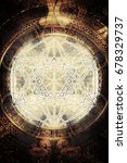 light merkaba and ancient mayan ... | Shutterstock . vector #678329737