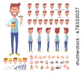 front  side  back view animated ... | Shutterstock .eps vector #678333037