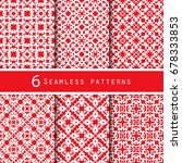 a pack of vintage pattern... | Shutterstock .eps vector #678333853
