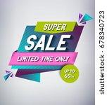 trendy sale banner design.... | Shutterstock .eps vector #678340723