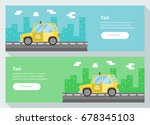 taxi banner. vector...   Shutterstock .eps vector #678345103