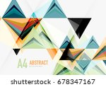 triangular low poly a4 size... | Shutterstock . vector #678347167