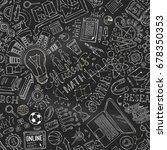vector seamless chalk science... | Shutterstock .eps vector #678350353