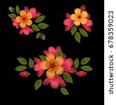 colorful ethnic floral pattern... | Shutterstock .eps vector #678359023