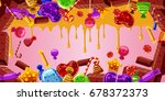 chocolate factory horizontal... | Shutterstock .eps vector #678372373