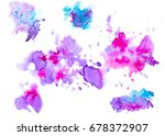colorful abstract watercolor... | Shutterstock .eps vector #678372907