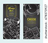 cheese top view  vertical...   Shutterstock .eps vector #678373927