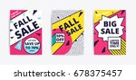 sale website banner template.... | Shutterstock .eps vector #678375457