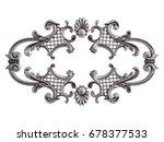 chrome ornament on a white... | Shutterstock . vector #678377533