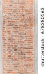 abstract old texture brick on... | Shutterstock . vector #678380563
