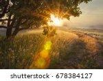 Landscape Rays Of Sun Through...