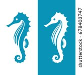 seahorse silhouette isolated on ... | Shutterstock .eps vector #678403747