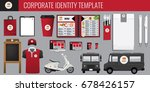 vector food corporate identity... | Shutterstock .eps vector #678426157