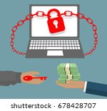ransomware virus locked... | Shutterstock .eps vector #678428707