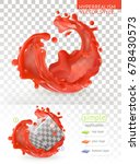 red paint splash with... | Shutterstock .eps vector #678430573