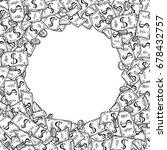 money heap round vector frame.... | Shutterstock .eps vector #678432757