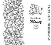 money vertical seamless wide... | Shutterstock .eps vector #678432763