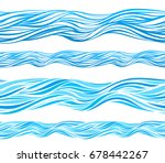blue wave patterns  seamless... | Shutterstock .eps vector #678442267