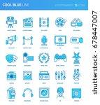 modern thin line icons set of... | Shutterstock .eps vector #678447007